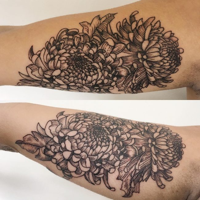 chrysanthemum tattoo10