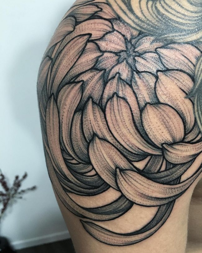 chrysanthemum tattoo13