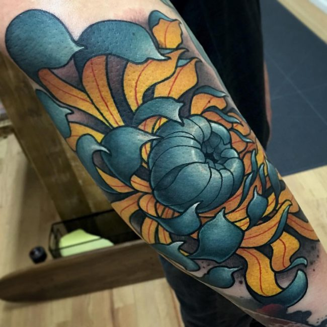 chrysanthemum tattoo16