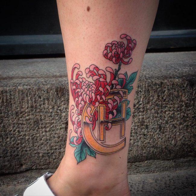 chrysanthemum tattoo17