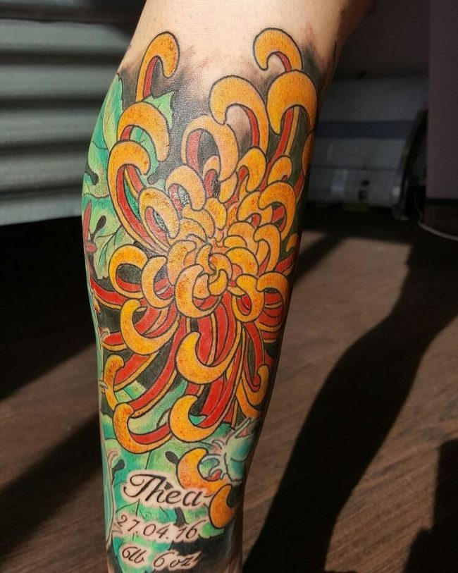 chrysanthemum tattoo2