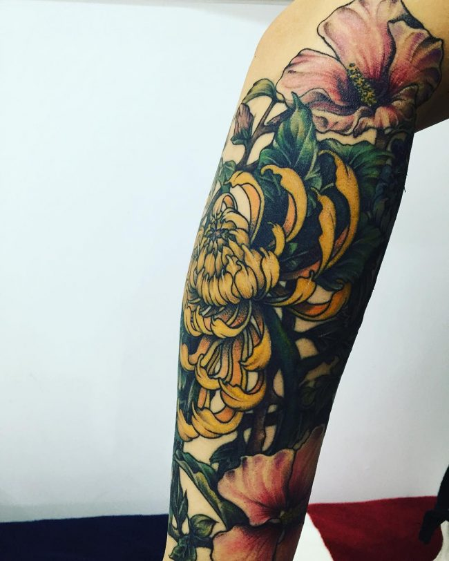 chrysanthemum tattoo23