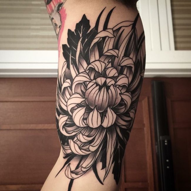 chrysanthemum tattoo24