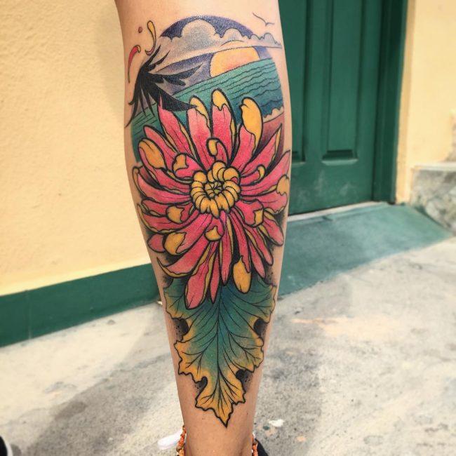 chrysanthemum tattoo25