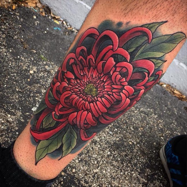 chrysanthemum tattoo26