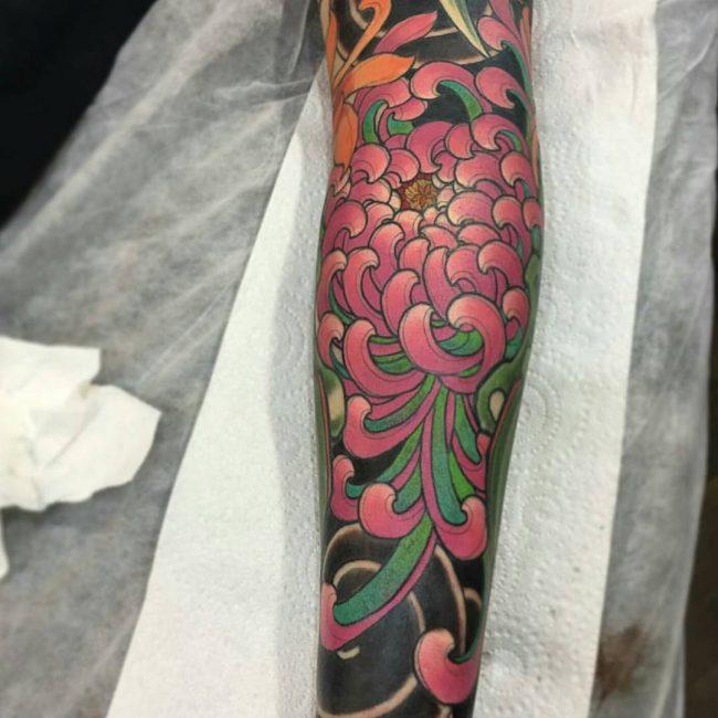 chrysanthemum tattoo27