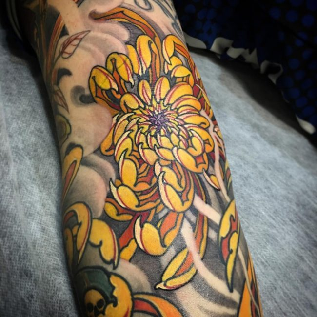 chrysanthemum tattoo28