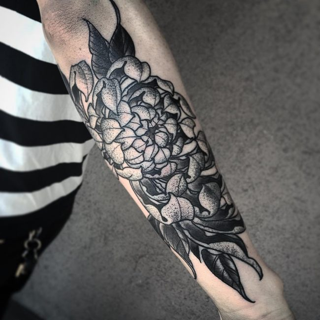 chrysanthemum tattoo3