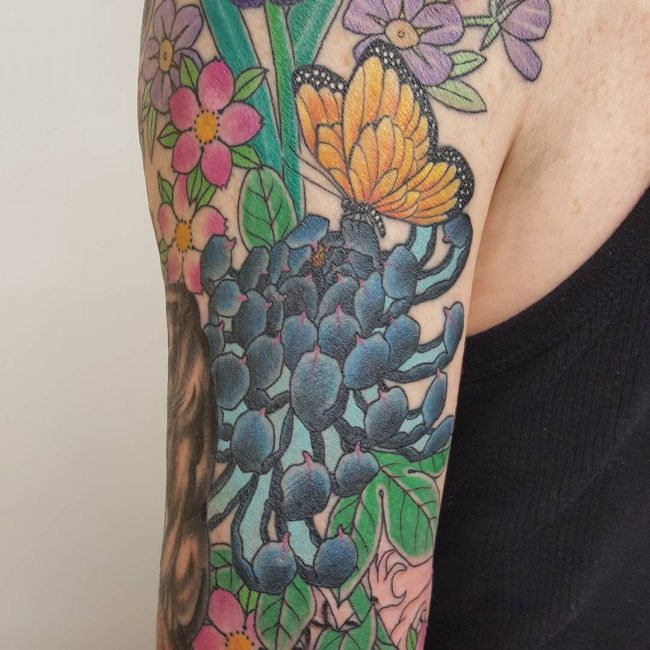 chrysanthemum tattoo33