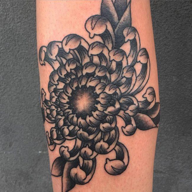 chrysanthemum tattoo34