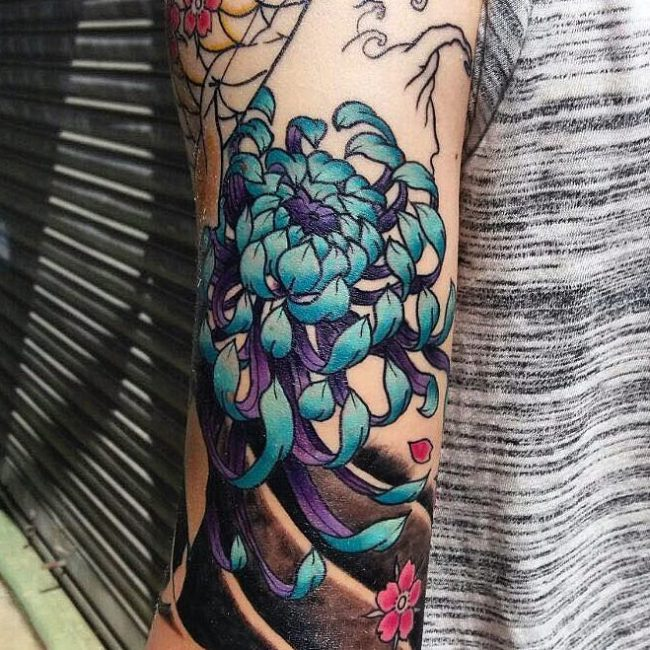 chrysanthemum tattoo35