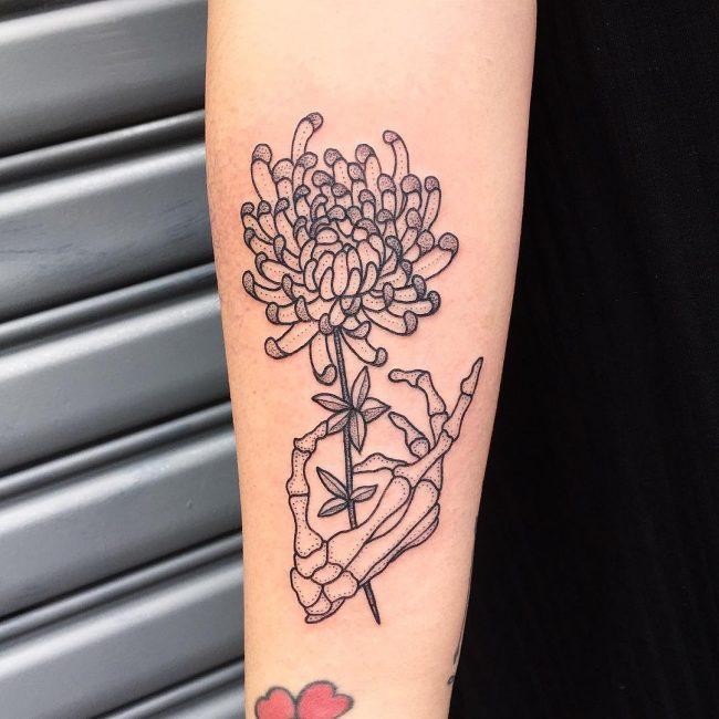 chrysanthemum tattoo38