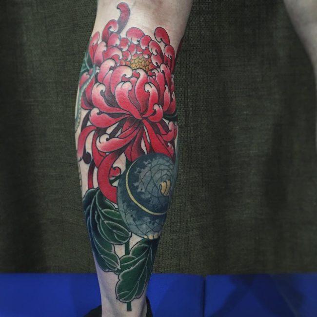 chrysanthemum tattoo39