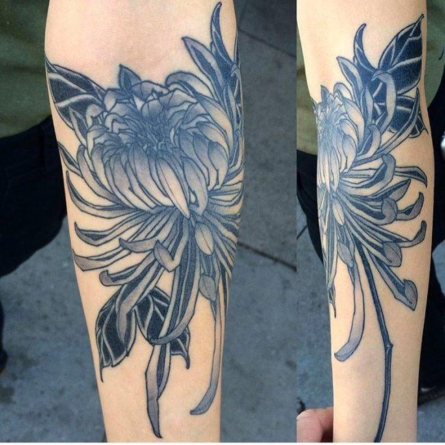 chrysanthemum tattoo43