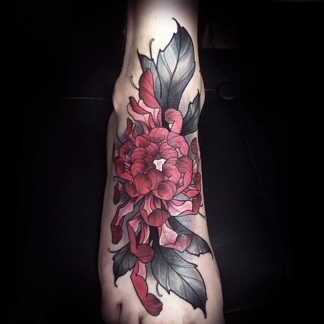 chrysanthemum tattoo44