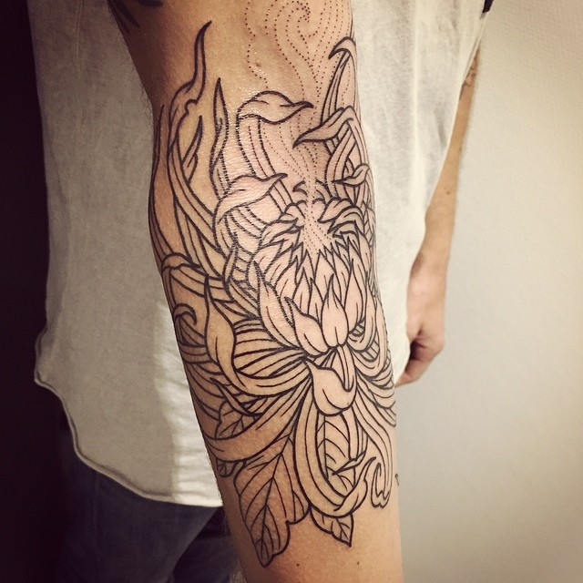 chrysanthemum tattoo46