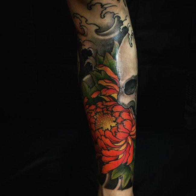 chrysanthemum tattoo48