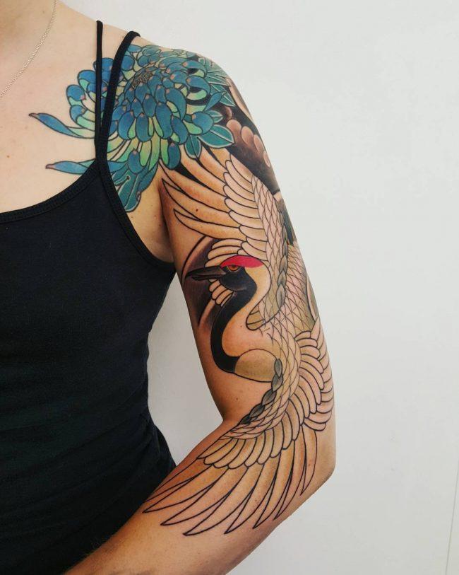 chrysanthemum tattoo49