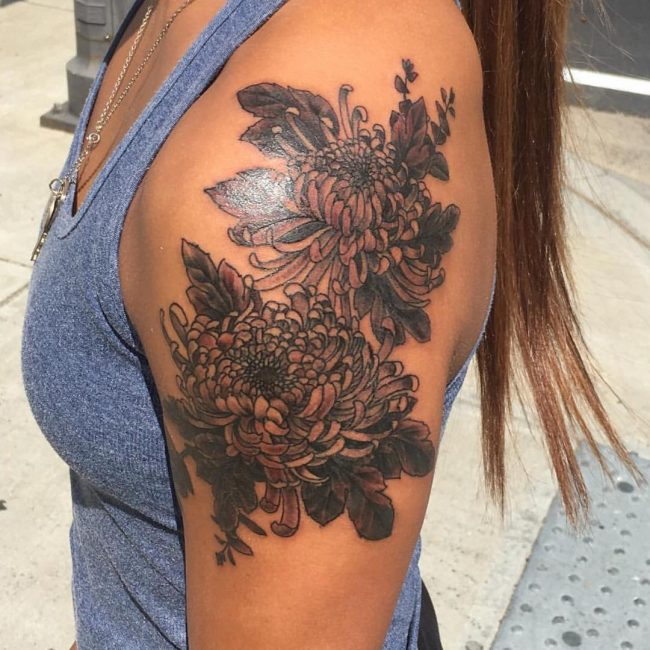 chrysanthemum tattoo6
