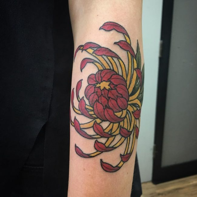 chrysanthemum tattoo7