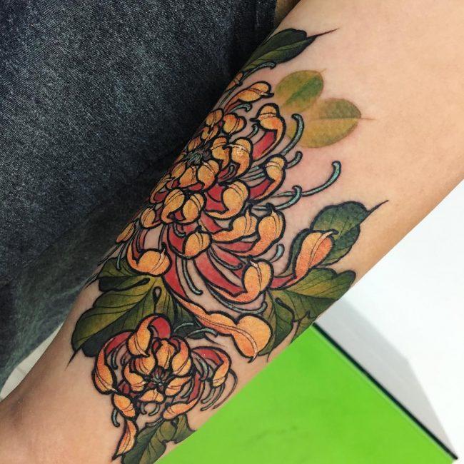 chrysanthemum tattoo9