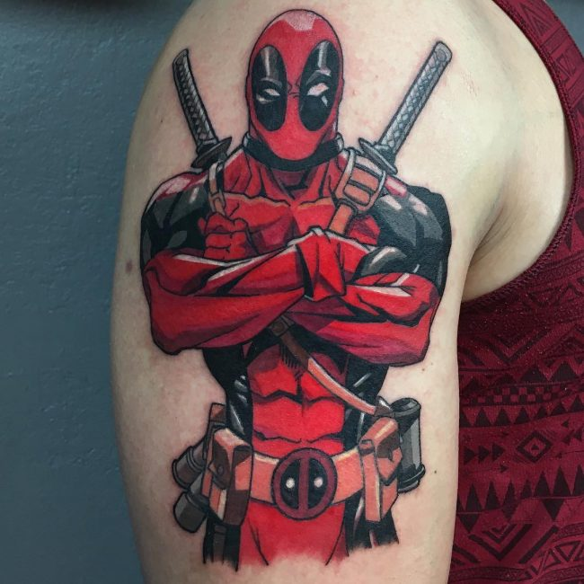 deadpool tattoo27