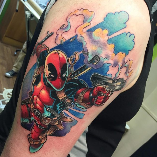 deadpool tattoo39