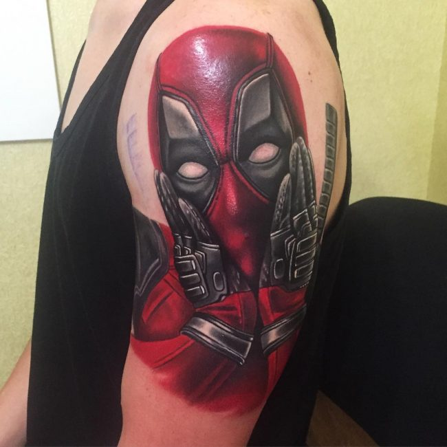deadpool tattoo6