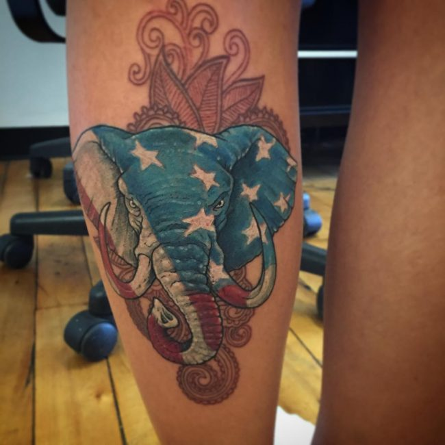 elephant tattoo14