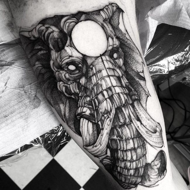 elephant tattoo15