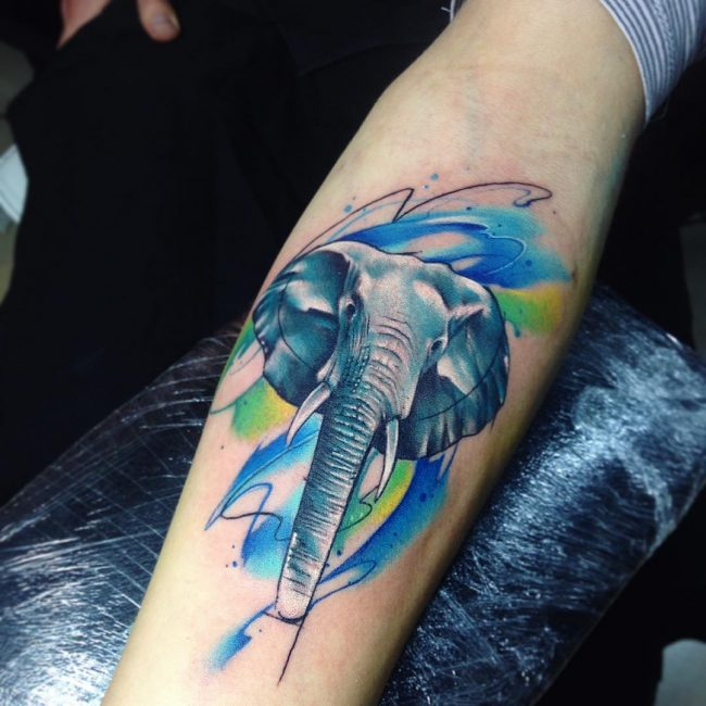elephant tattoo22