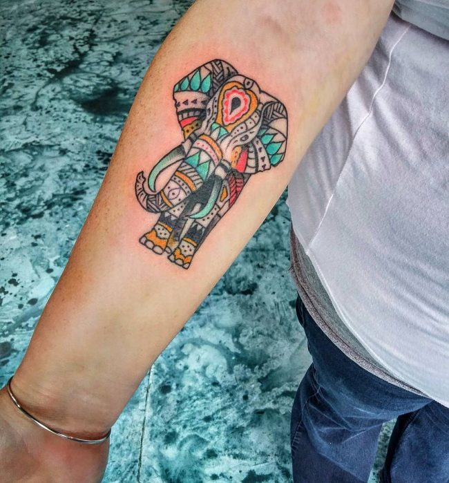 elephant tattoo57