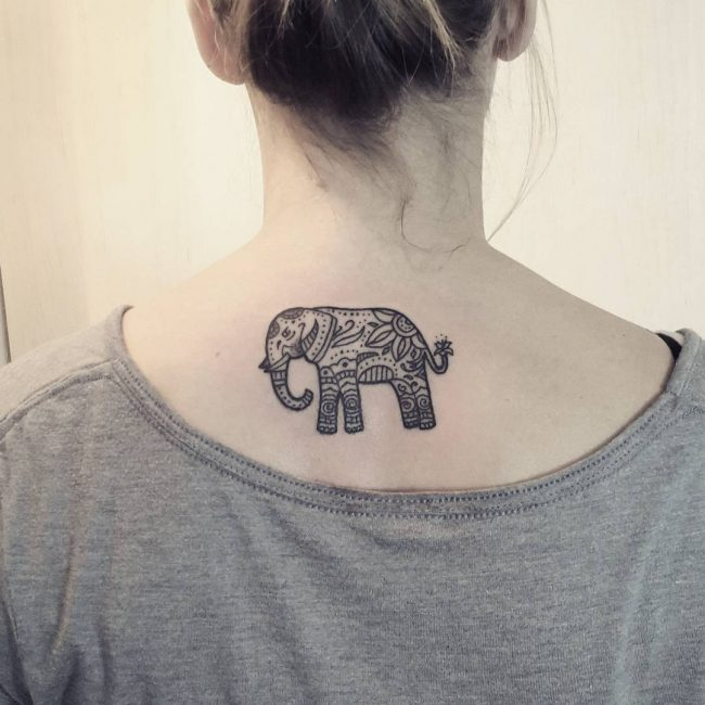 elephant tattoo60