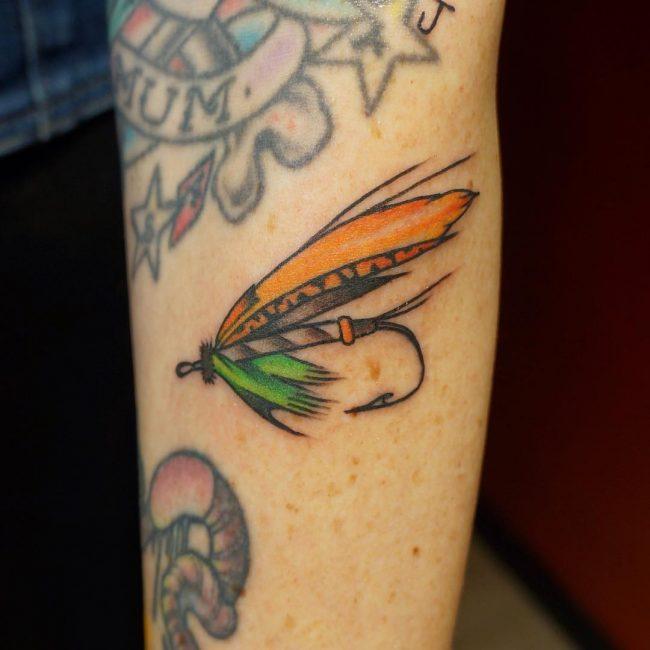 fish hook tattoo10