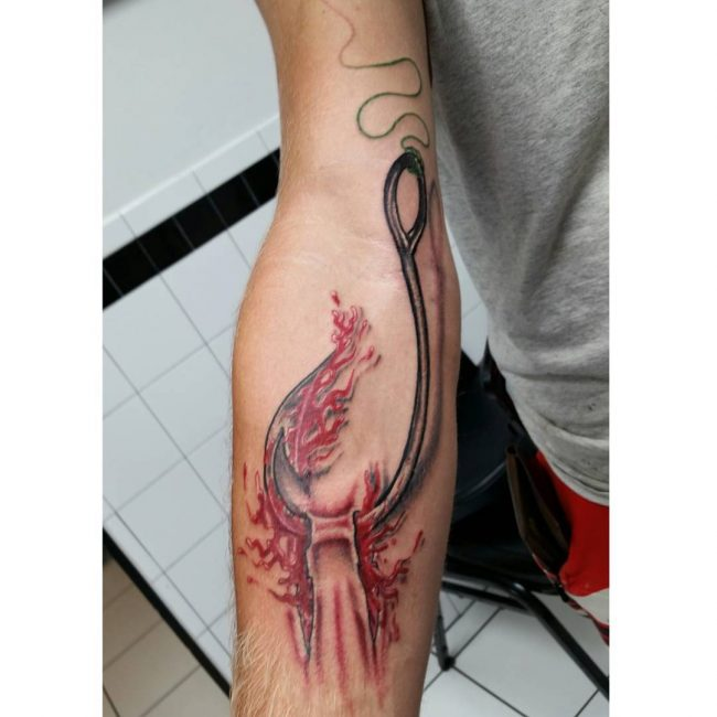 fish hook tattoo19