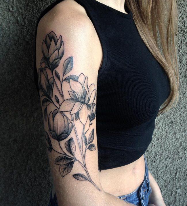 floral tattoo14