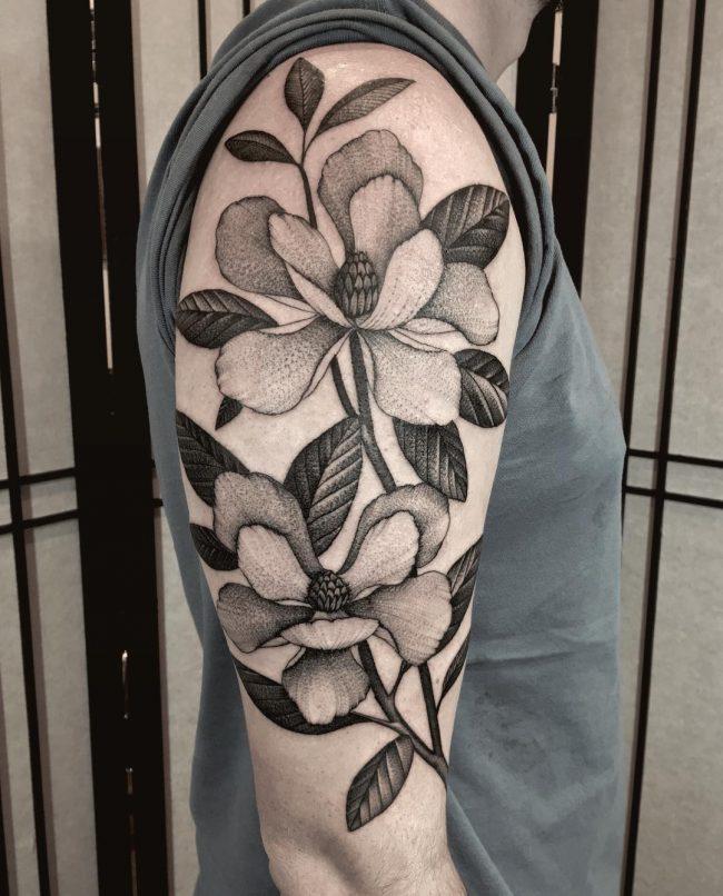 floral tattoo17