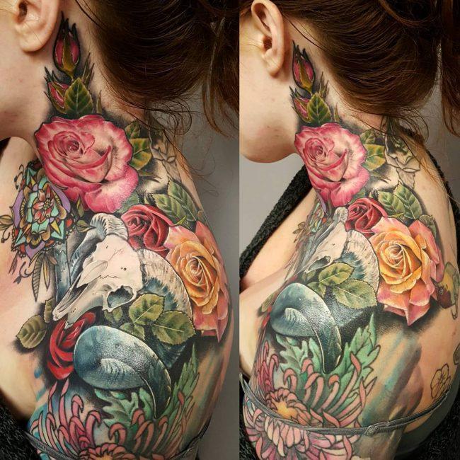 floral tattoo59