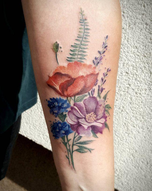 floral tattoo63