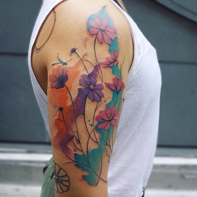 floral tattoo65