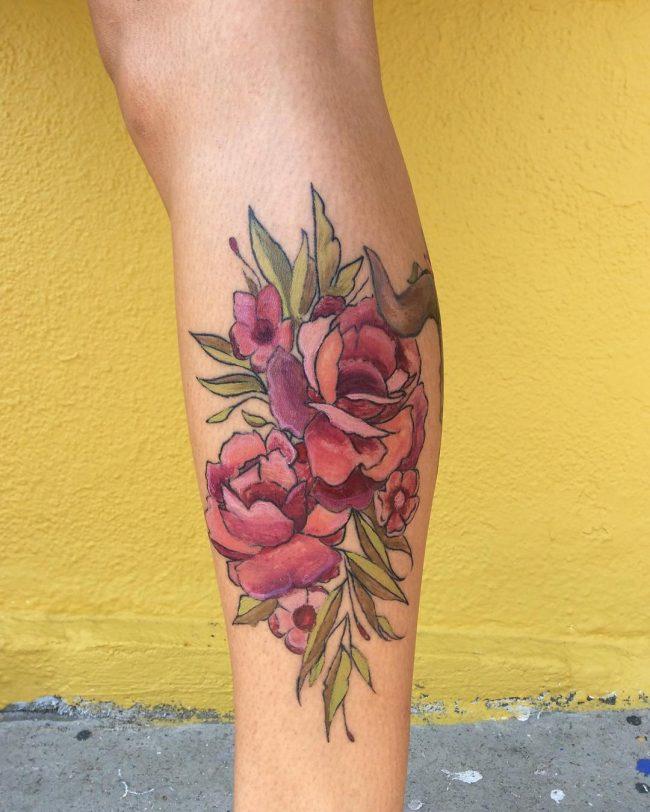floral tattoo66