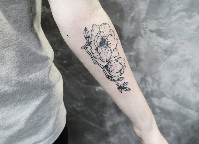 floral tattoo68