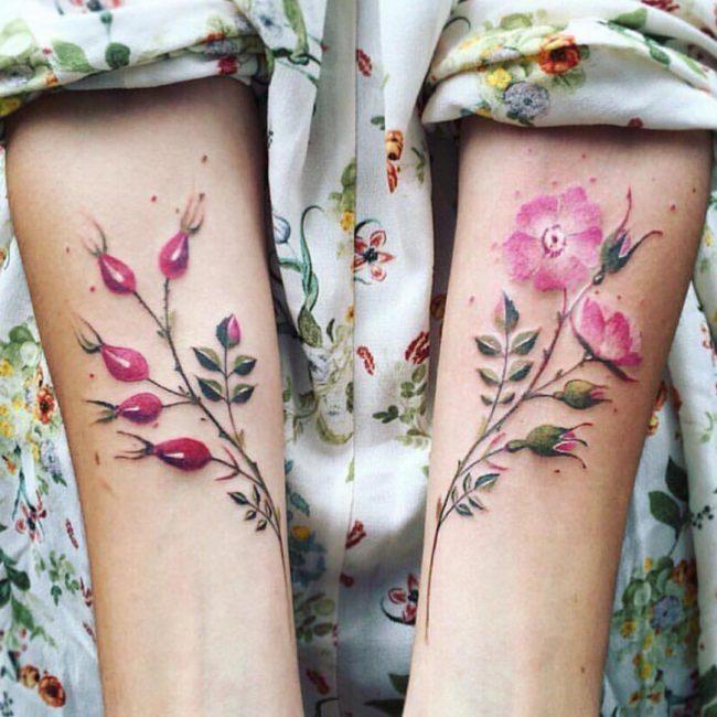 floral tattoo69