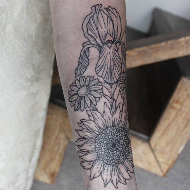 floral tattoo70