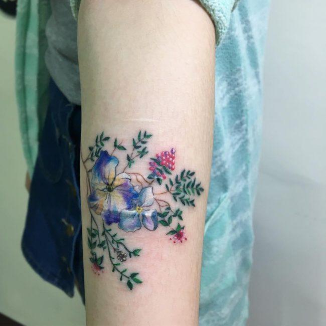 floral tattoo72