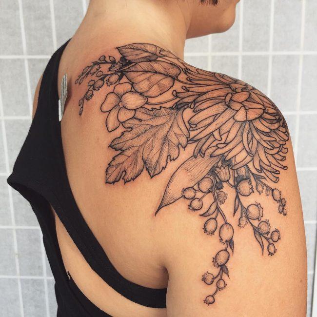 floral tattoo75