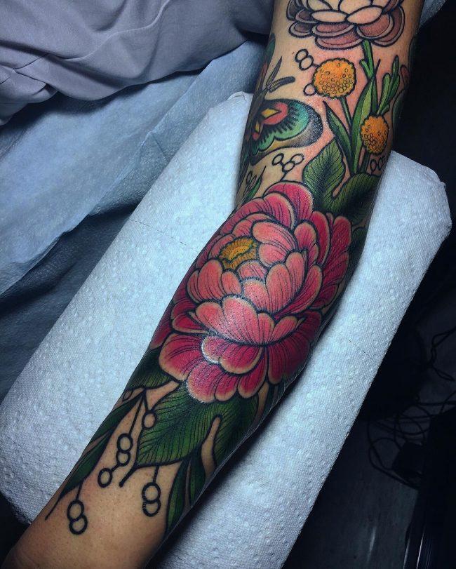 floral tattoo77