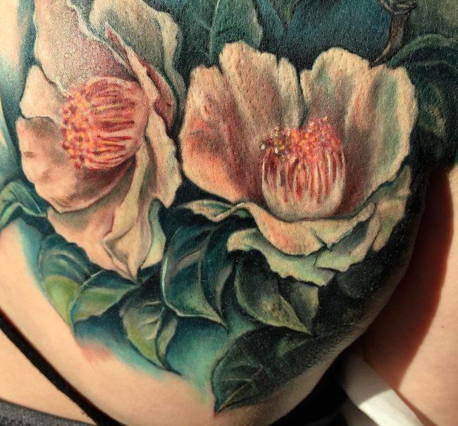 floral tattoo80