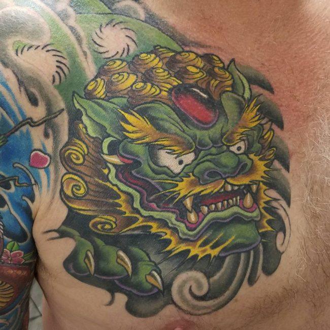foo dog tattoo12