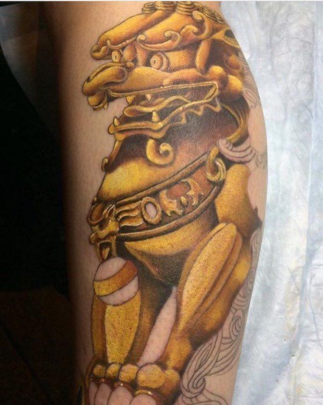 foo dog tattoo15